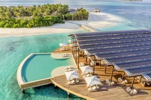 En un atolón de apenas un kilómetro de largo y 200 metros de ancho se asienta el resort Kudadoo Maldives.