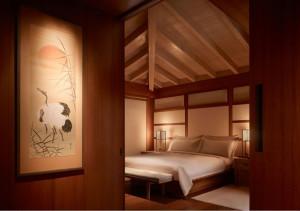 El hotel Nobu Ryokan en Malibú está inspirado en las tradicionales ryokan (posadas japonesas).