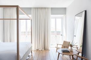 El mejor diseño minimalista en este hotel de Lisboa.
